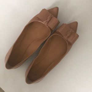 J.Crew nude bow flats